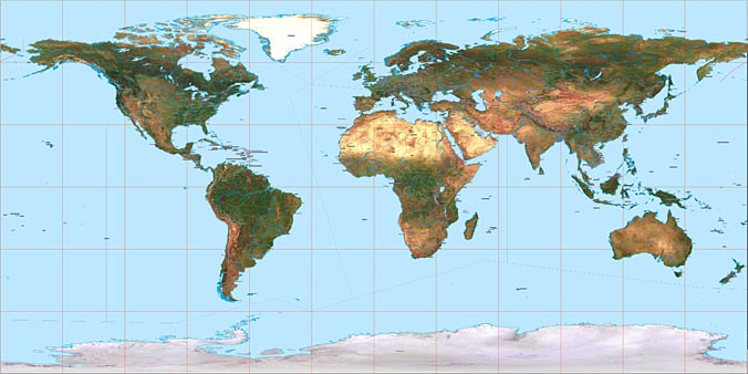 World Maps Satellite Imagery And Vector Maps - World satellite map lights
