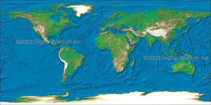 World maps relief maps and vector maps relief texture world map at 4 km resolution showing land and sea floor relief in smoothed color variation based on elevation gumiabroncs Choice Image